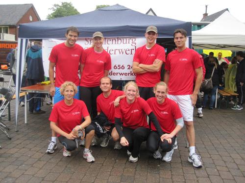 Sponsorloop , eestafette marathon, Nederhorst den Berg