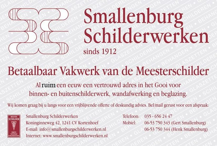 Advertentie Smallenbrug Schilderwerken in Kortenhoef