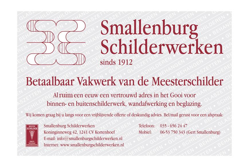 Advertentie Smallenburg Schilderwerken in Kortenhoef